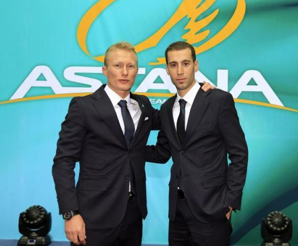 Александр Винокуров и Винченцо Нибали, Photo: © Bettini