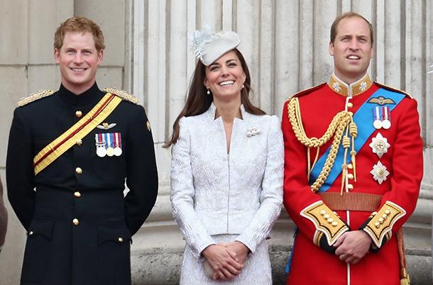 Принц Уильям, герцогиня Кейт и принц Гарри на старте Тур де Франс-2014