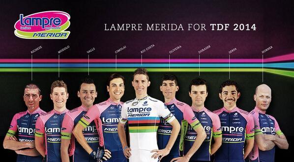 Lampre-Merida на Тур де Франс-2014