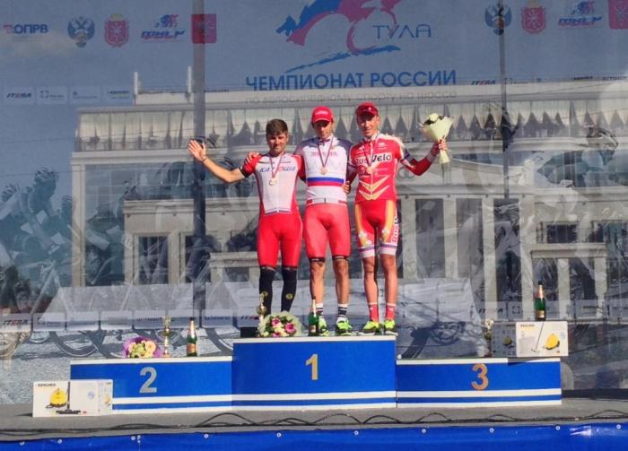 Александр Порсев - чемпион России в групповой гонке
