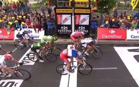 Киттель, Кристофф, Демар в спринте 4 этапа Тур де Франс-2014