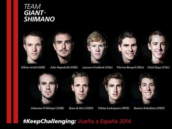 Состав команды Giant-Shimano на Вуэльту Испании-2014