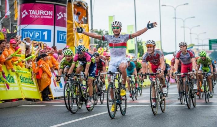 Роман Майкин – на подиуме 1 этапа «Тура Польши»