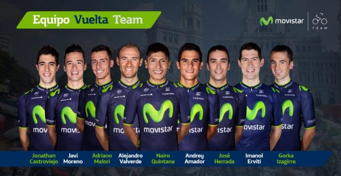 Состав команды Movistar на Вуэльту Испании-2014