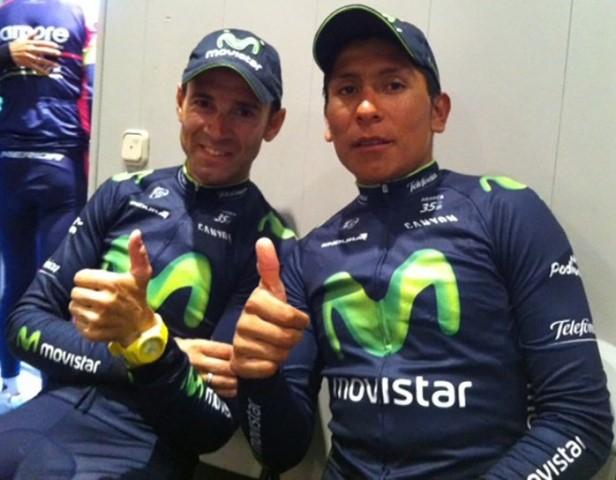 Наиро Кинтана и Алехандро Вальверде, Photo © Movistar