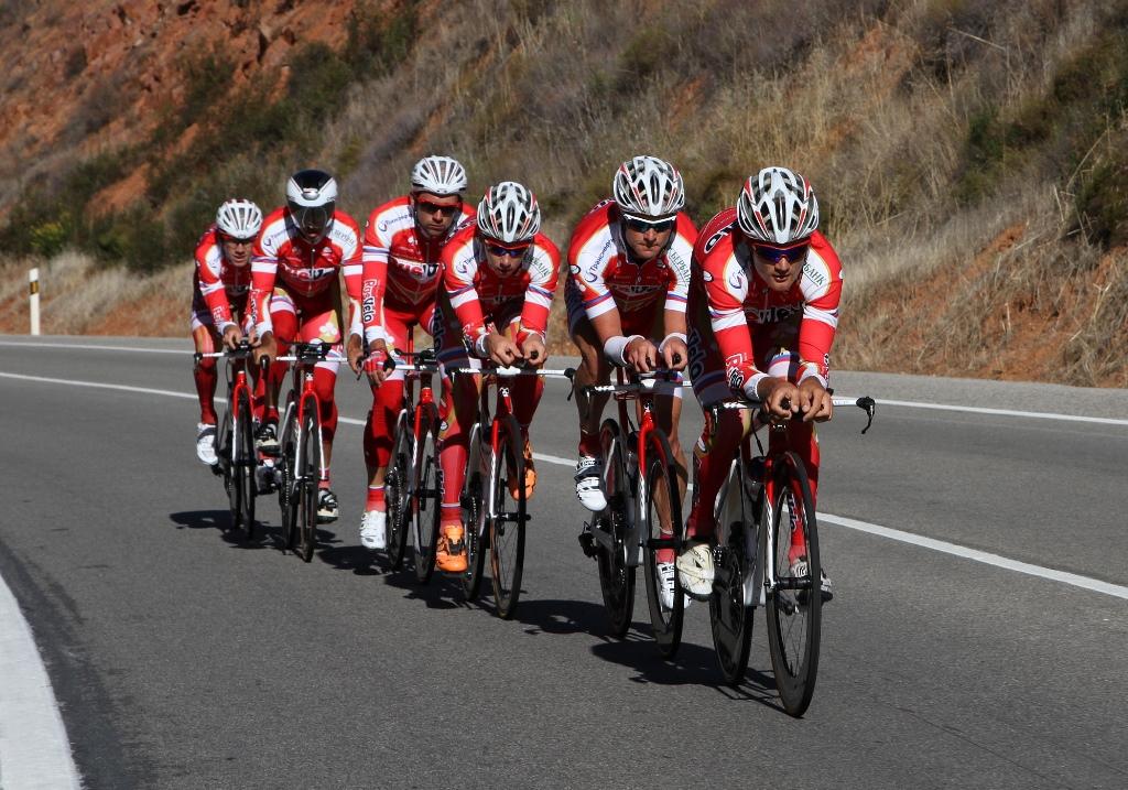 «РусВело» перед командной гонкой на чемпионате мира, Фото © RusVelo professional cycling team