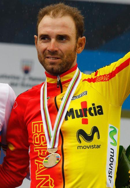 Алехандро Вальверде - бронзовый призёр ЧМ2014, Photo © movistarteam