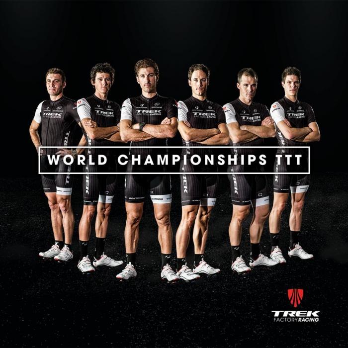 Чемпионат мира-2014. Состав Trek Factory Racing на командную гонку с раздельным стартом (TTT)