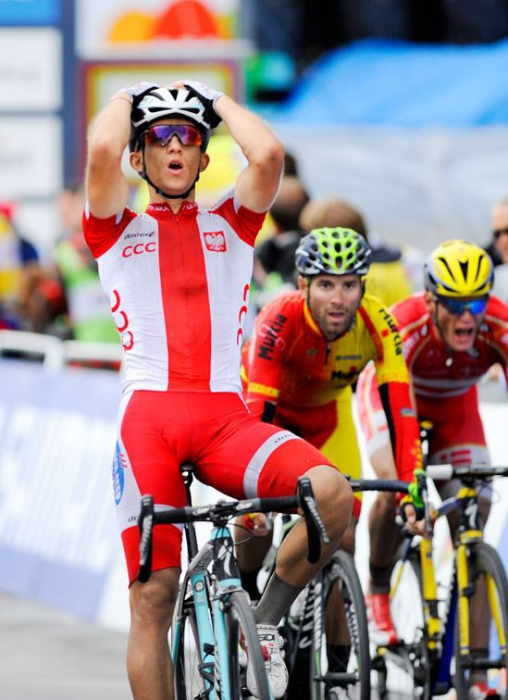 Польский велогонщик Михал Квятковски выиграл