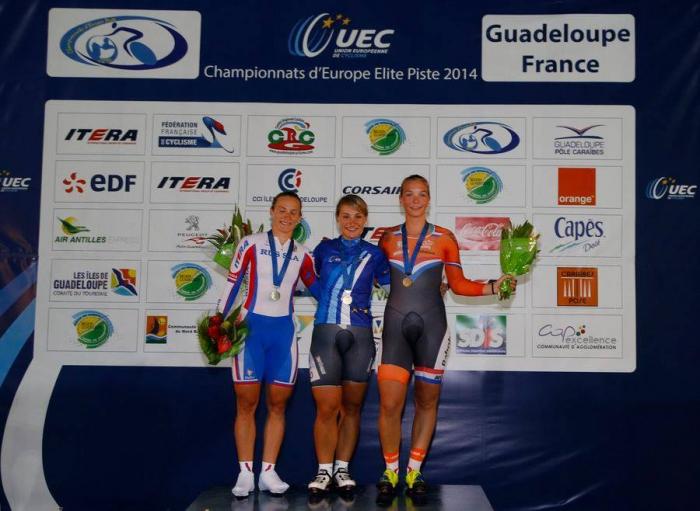 Брежнива и Дмитриев - призеры чемпионата Европы в кейрине