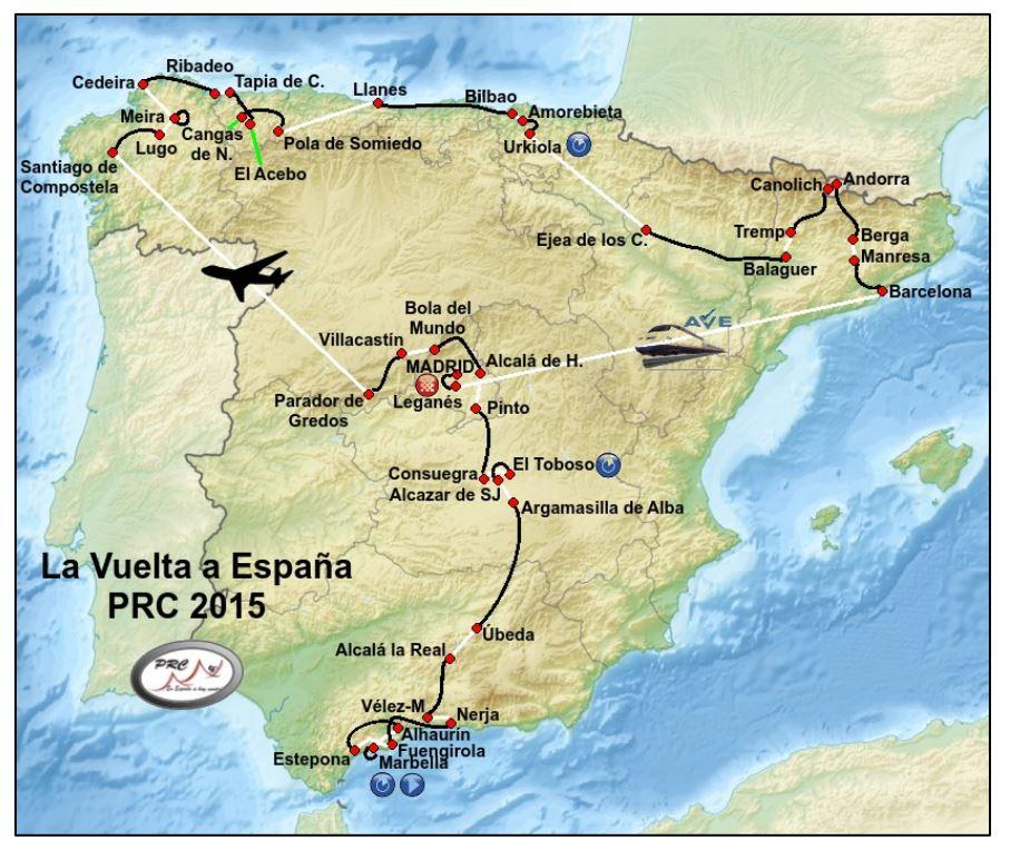 Вуэльта Испании-2015. Карта