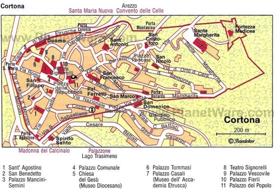 Карта Кортоны