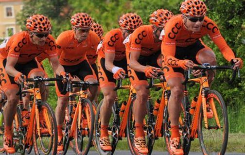 Польская команда CCC Sprandi Polkowice стартует на Джиро д'Италия-2015