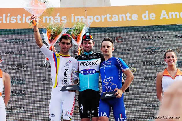Подиум 7 этапа Тура Сан-Луис-2015
