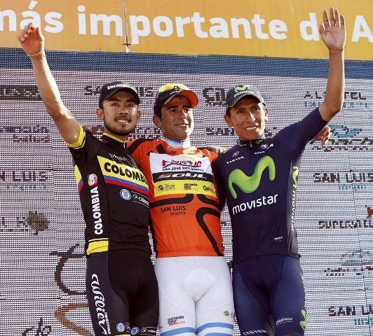 Даниэль Диас, Родольфо Торрес и Наиро Кинтана, Тур Сан-Луиса-2015