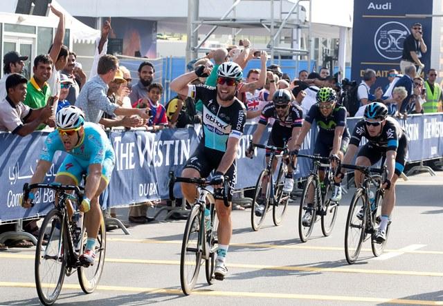 Марк Кэвендиш, победа на 1-м этапе Тура Дубая-2015