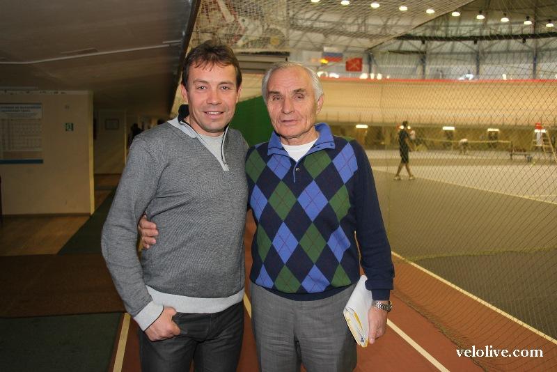 Александр Кузнецов со своим учеником Вячеславом Екимовым