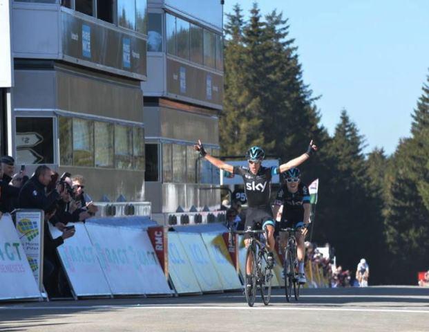 Победа на 4-м этапе Париж-Ниццы Ричи Порта, жёлтая майка Михала Квятковски