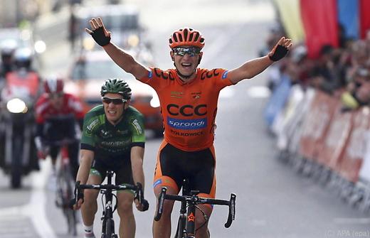 Мачей Патерски - победитель 1-го этапа Вуэльты Каталонии-2015