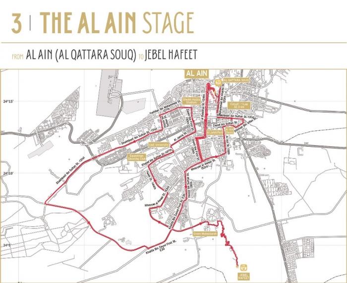 Тур Абу-Даби 2015: Маршрут
