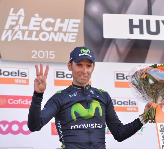 Алехандро Вальверде (Movistar) - трёхкратный победитель Флеш Валлонь