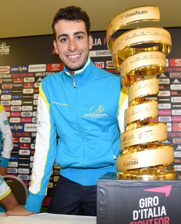 Пресс-конференция Фабио Ару перед стартом на Джиро д'Италия - 2015