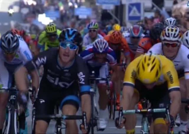 Элиа Вивиани (Sky) – победитель 2-го этапа Джиро д'Италия-2015