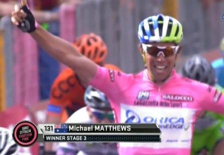 Майкл Мэттьюс – победитель 3 этапа Джиро д'Италия-2015