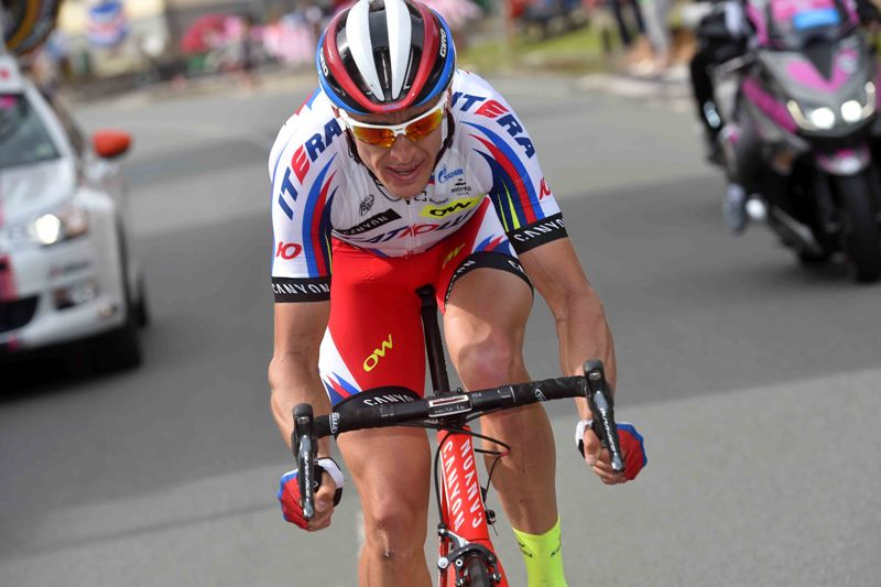 На фото (@Tim De Waele): Павел Кочетков на дистанции этапа