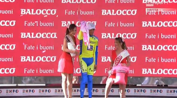 Падение Альберто Контадора на 6-м этапе Джиро д'Италия-2015
