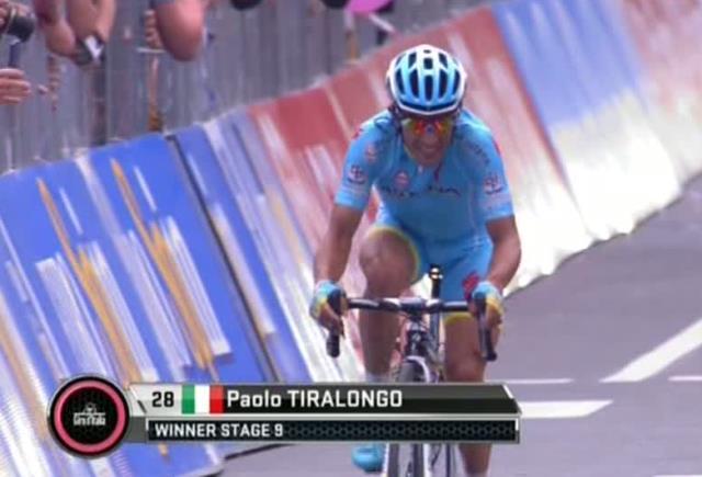 Паоло Тиралонго - победитель 9 этапа Джиро д'Италия-2015