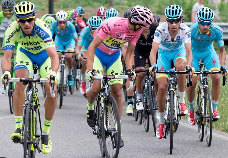 Альберто Контадор, Фабио Ару, Ричи Порт, Ригоберто Уран о 9 этапе Джиро д'Италия-2015