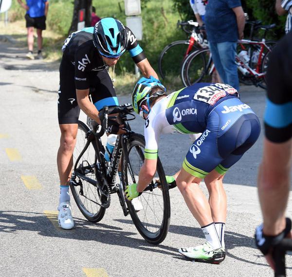 Ричи Порт оштрафован на 2 минуты на 10-м этапе Джиро д'Италия-2015