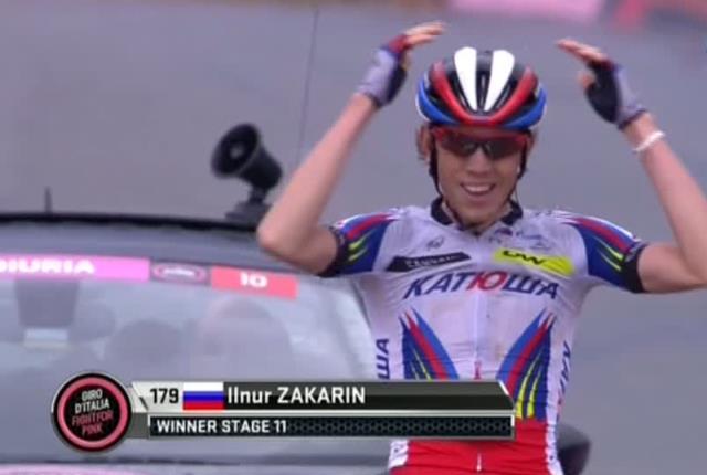 Ильнур Закарин – победитель 11 этапа Джиро д'Италия-2015