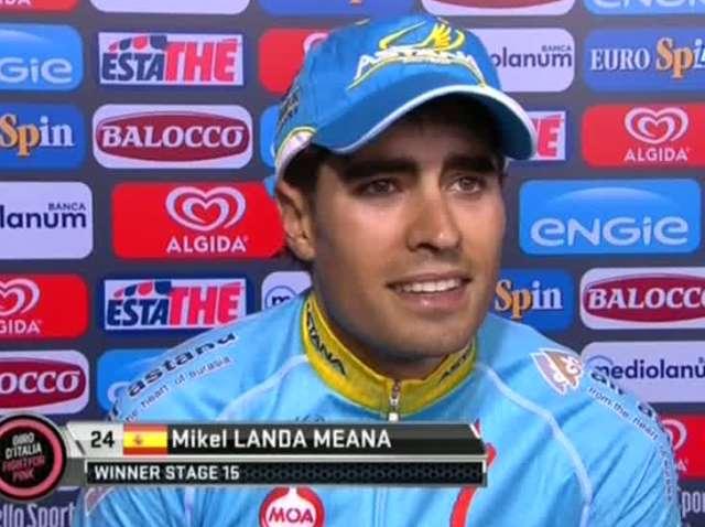 Микель Ланда – победитель 15 этапа Джиро д'Италия-2015