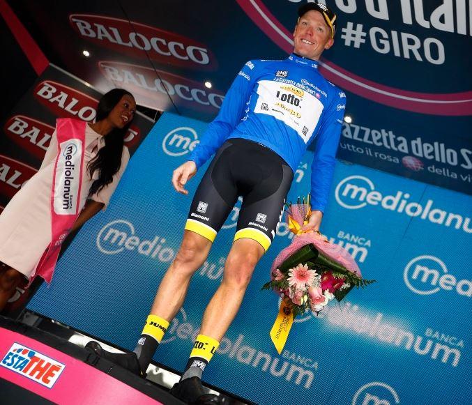Стевен Крёйсвейк - первый на Мортироло и горный король Джиро д'Италия-2015