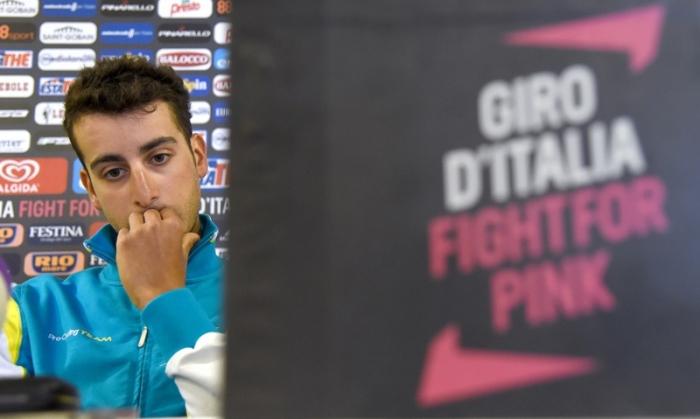 Пресс-конференция Фабио Ару перед стартом на Джиро д'Италия-2015