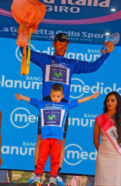 Джованни Висконти на подиуме Джиро д'Италия-2015