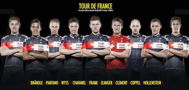 Состав команды IAM Cycling на Тур де Франс-2015