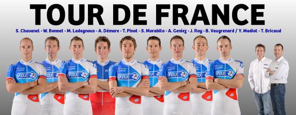 Состав команды FDJ на Тур де Франс-2015