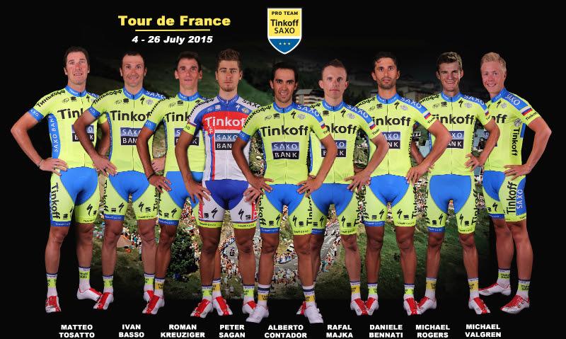 Состав команды Тинькофф-Саксо на Тур де Франс-2015