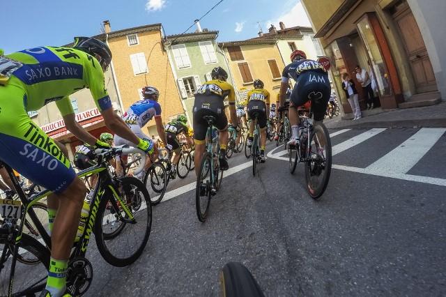 Видеокамеры на велосипедах во время этапов на Тур де Франс-2015