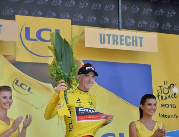 Роан Деннис - первый обладатель жёлтой майки Тур де Франс-2015