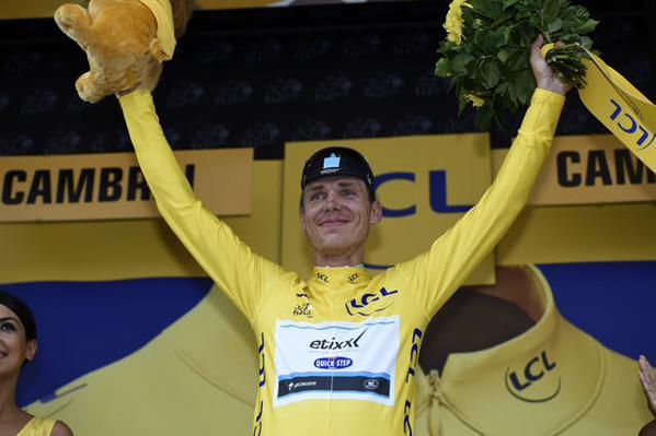 Долгожданная жёлтая майка Тур де Франс-2015 для Тони Мартина