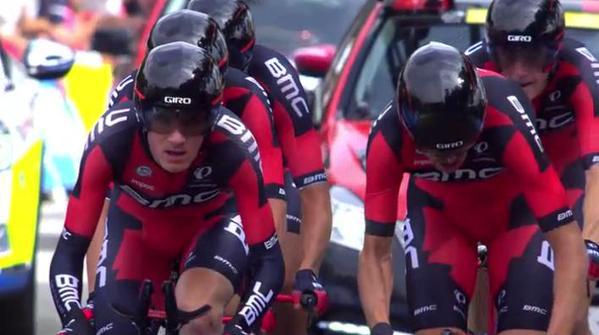 Команда BMC - победитель 9-го этапа Тур де Франс-2015