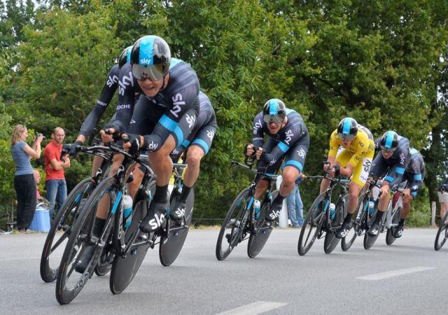 Команда Sky на 9 этапе Тур де Франс-2015
