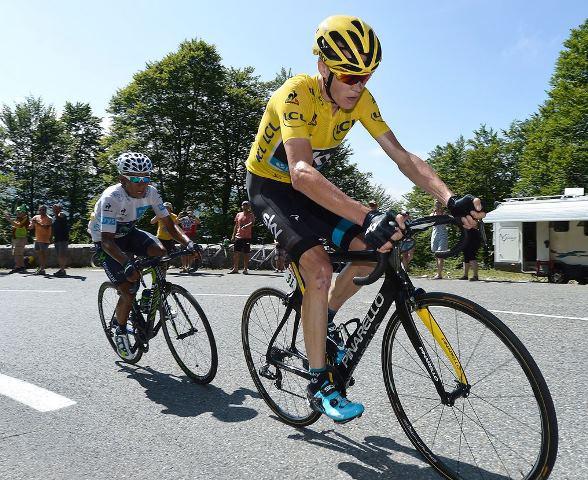 Наиро Кинтана и Крис Фрум на 10-м этапе Тур де Франс-2015