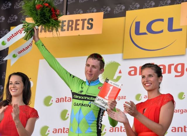 Дэн Мартин - обладатель приза самого агрессивного гонщика 11-го этапа Тур де Франс-2015