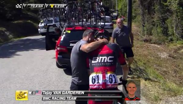 Тиджей Ван Гардерен (BMC) сошёл с Тур де Франс-2015