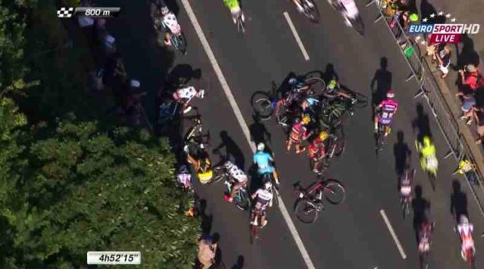 Баргиль, Нибали, Фрум, Ван Гардерен и Кинтана о завале на финише 6 этапа Тур де Франс-2015